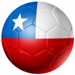 Chile Football Flag 58mm Button Badge